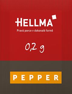Hellma pepř porce