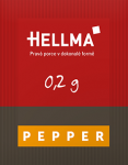 Hellma pepper portion