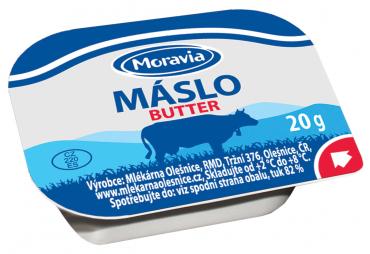 MORAVIA máslo 20g/60 ks plast